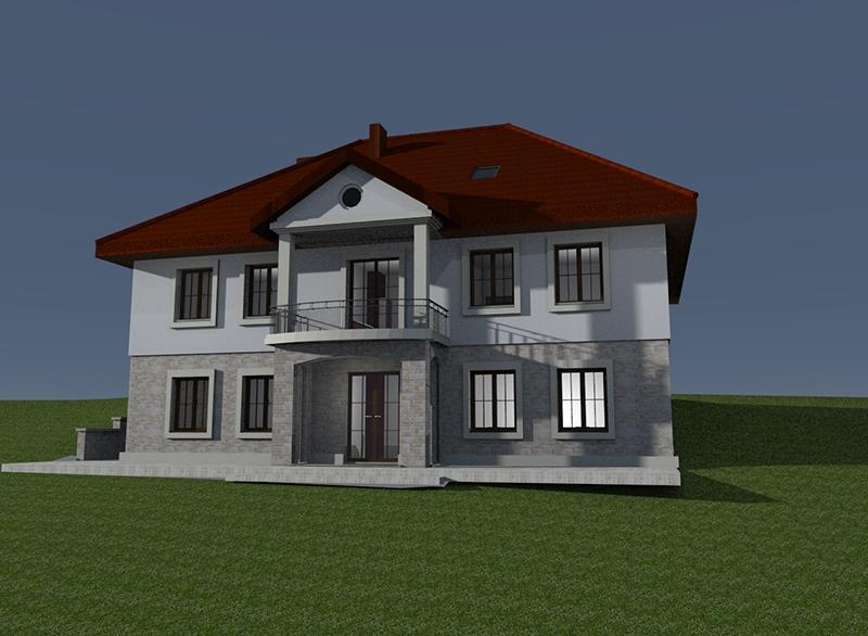 Budowa nowej plebanii [002] (05.2017) (wizualizacja budynku)