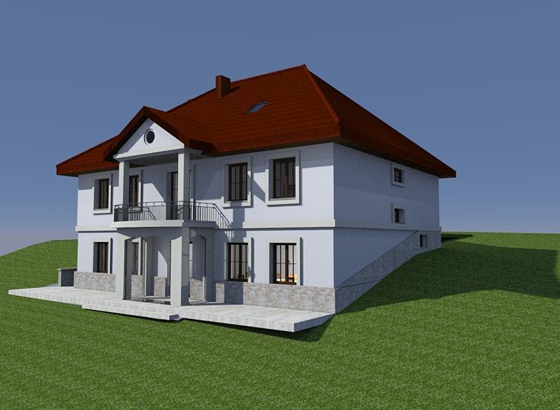 Budowa nowej plebanii [003] (05.2017) (wizualizacja budynku)