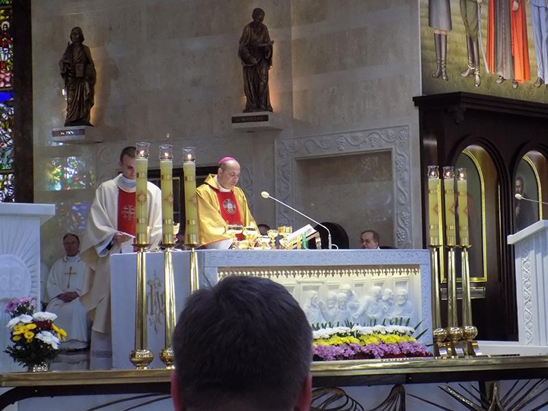 Pielgrzymka Diecezji Sosnowieckiej do Sanktuarium NMP Gwiazdy Nowej Ewangelizacji i św. Jana Pawła II w Toruniu (14.04.2018) [023]