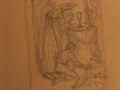 Rysunki i szkice Ludwika Konarzewskiego (seniora) związane z powstawaniem ołtarza głównego oraz obrazu św. Stanisława BM z maja 1951 r. [002]