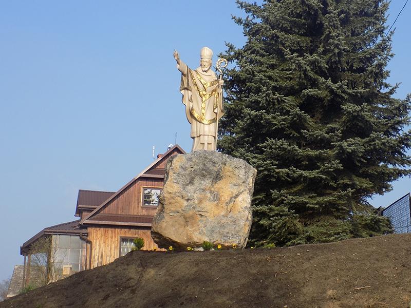 Wzniesienie i poświęcenie figury św. Stanisława BM [001] (09.04.2017)