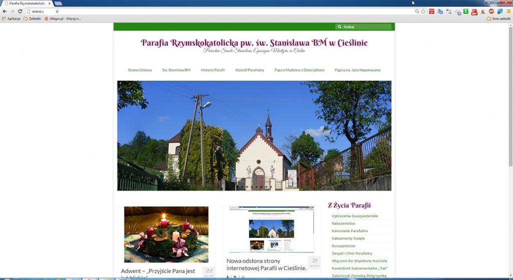 Strona internetowa Parafii w Cieślinie