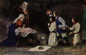 Boże Narodzenie (przedwojenna pocztówka)