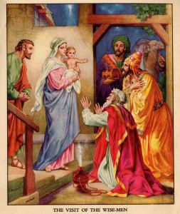 Narodzenie Jezusa z wizytą Mędrców (Birth of Jezus with visiting Magi - Heinrich Hofmann. ok. 1900 r.).