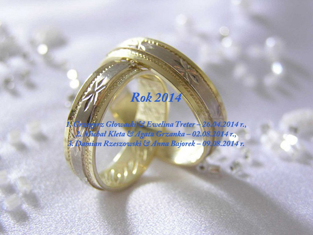 Sakrament Małżeństwa - 2014 rok