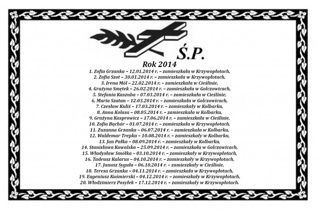Pogrzeby 2014 rok.