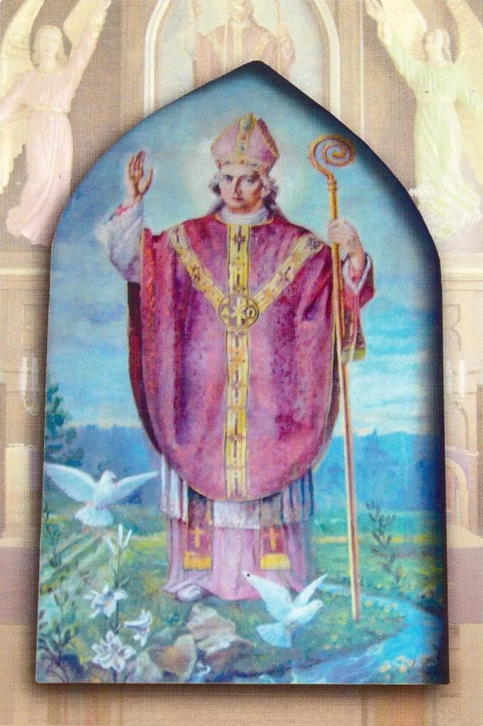 Św. Staisław - obraz z ołtarza głównego kościoła w Cieślinie.