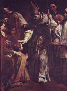 "Giuseppe Maria Crespi - ""Bierzmowanie"" (Drezno, Gemaeldegalerie - 1712 r.)."