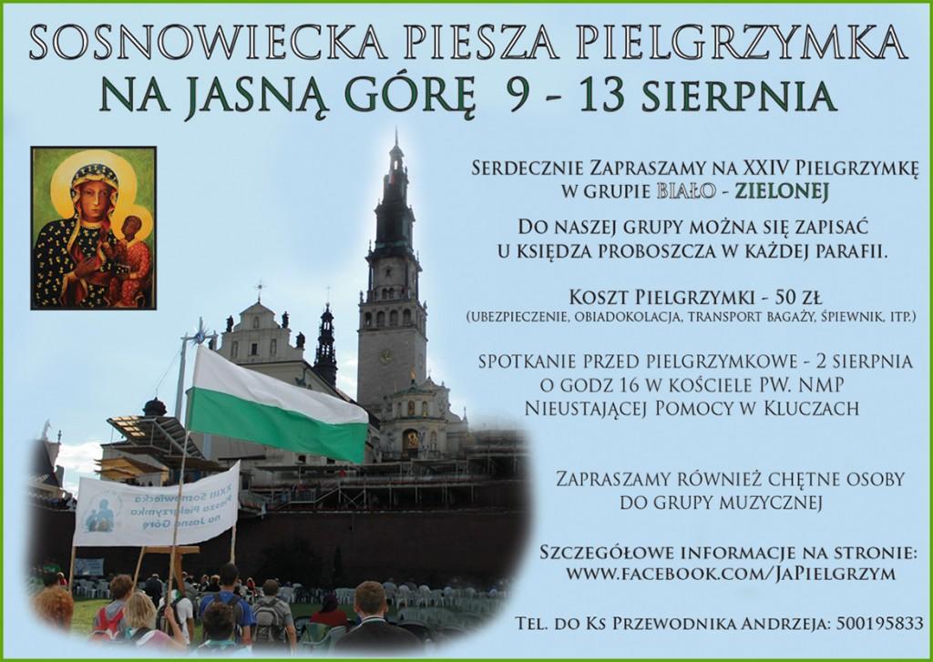 Sosnowiecka Piesza Pielgrzymka na Jasną Górę.