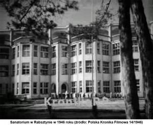 Sanatorium w Rabsztynie w 1946 roku (źródło: Polska Kronika Filmowa 14/1946).