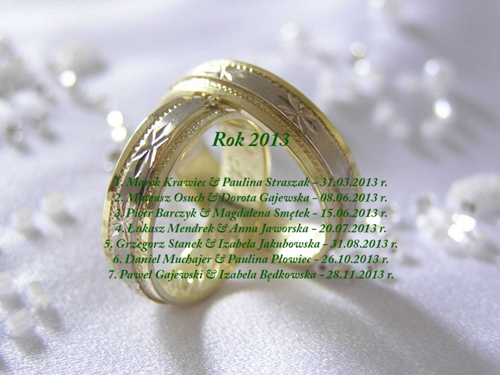 Sakrament Małżeństwa 2013 rok