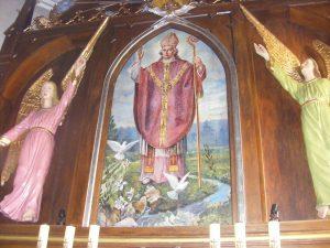 Obraz św. Stanisława BM w ołtarzu głównym kościoła w Cieślinie.