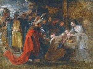 """Peter Paul Rubens """"Pokłon Trzech Króli"""" (obraz z Królewskiego Muzeum Sztuk Pięknych w Antwerpii)"""
