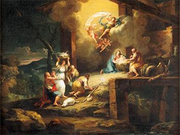 """Francesco Zuccarelli - """"Narodziny Chrystusa z adoracją pasterzy"""" (G)"""