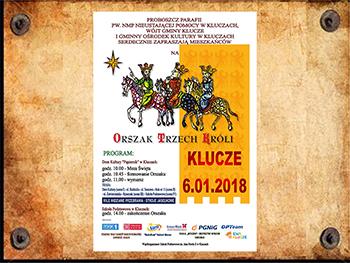 """Plakat """"Orszak Trzech Króli"""" Klucze 2018 (G)"""