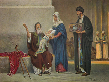 """Robert Leinweber """"Symeon trzymajacy Jezusa"""" (G)"""
