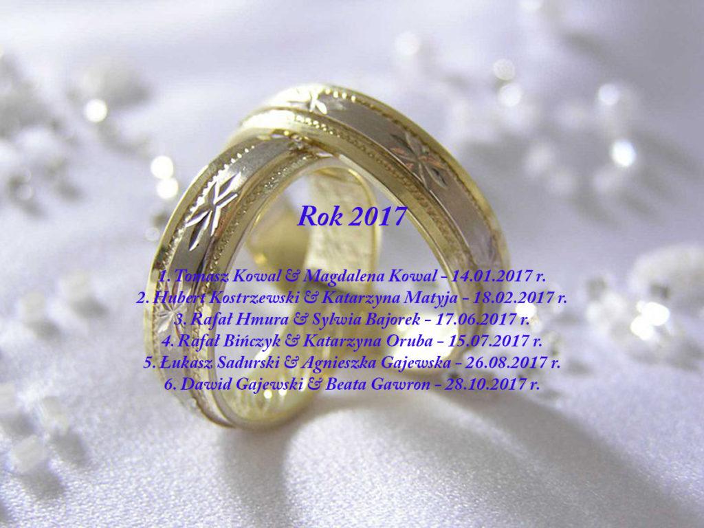 Sakrament Małżeństwa - 2017 rok
