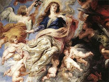 """Peter Paul Rubens """"Wniebowzięcie Najświętszej Marii Panny"""" (frag. obrazu) (G)"""