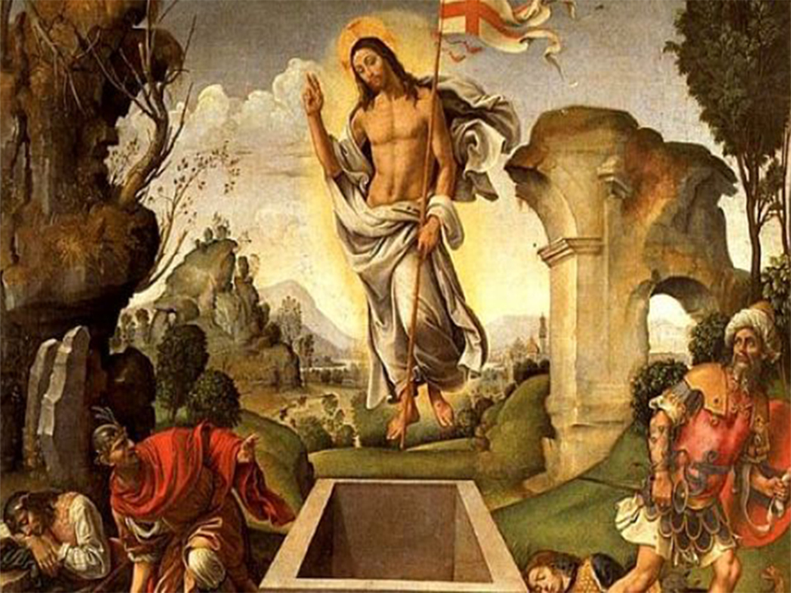 """""""Zmartwychwstanie"""" (obraz z XVI w.)"""