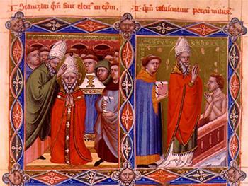 """""""Święty Stanisław ze Szczepanowa"""" (obraz legendarnego króla Węgier Anjou (XIV wiek) (G)"""