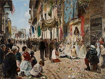 "Arcadi Mas i Fondevila ""The Corpus Christi Procession 1887"" (G)"