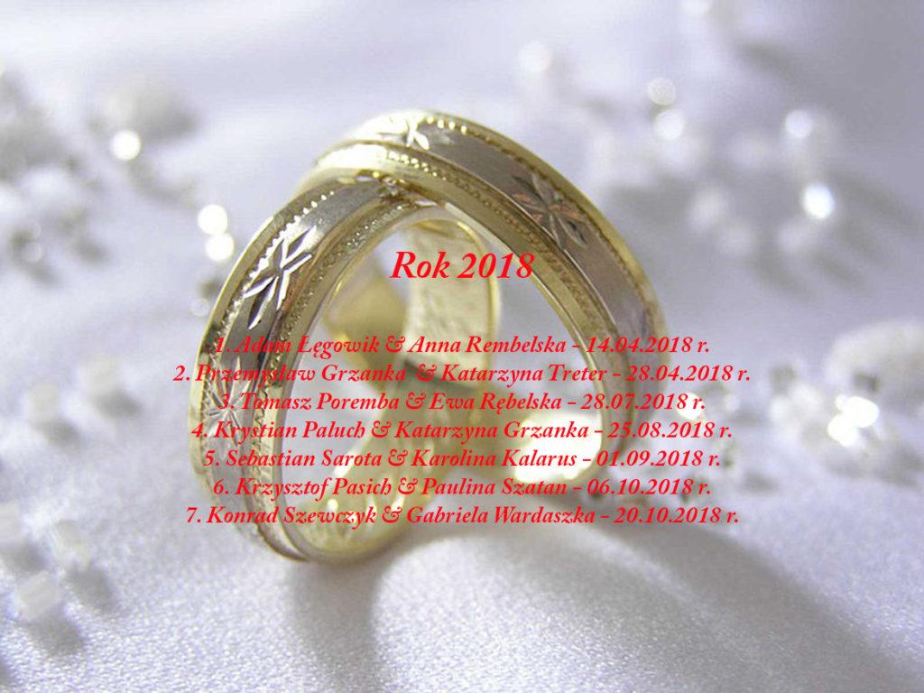 Sakrament Małżeństwa - 2018