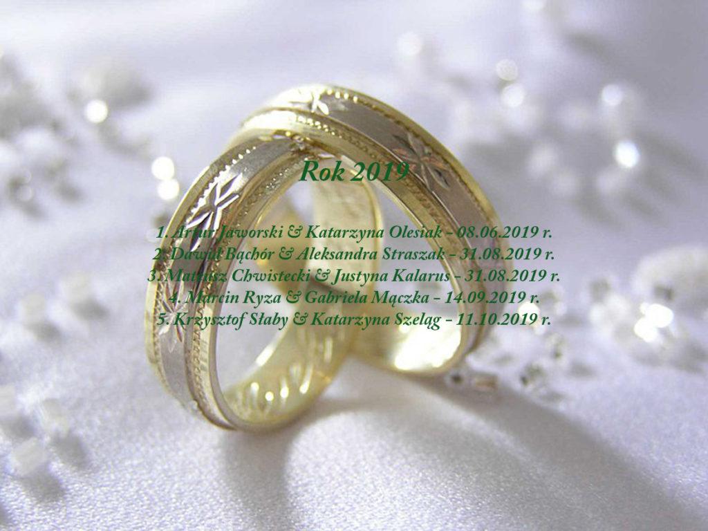 Sakrament Małżeństwa - 2019