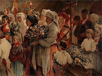 """Witold Pruszkowski """"Niedziela Zielna"""" (1883) (G)"""