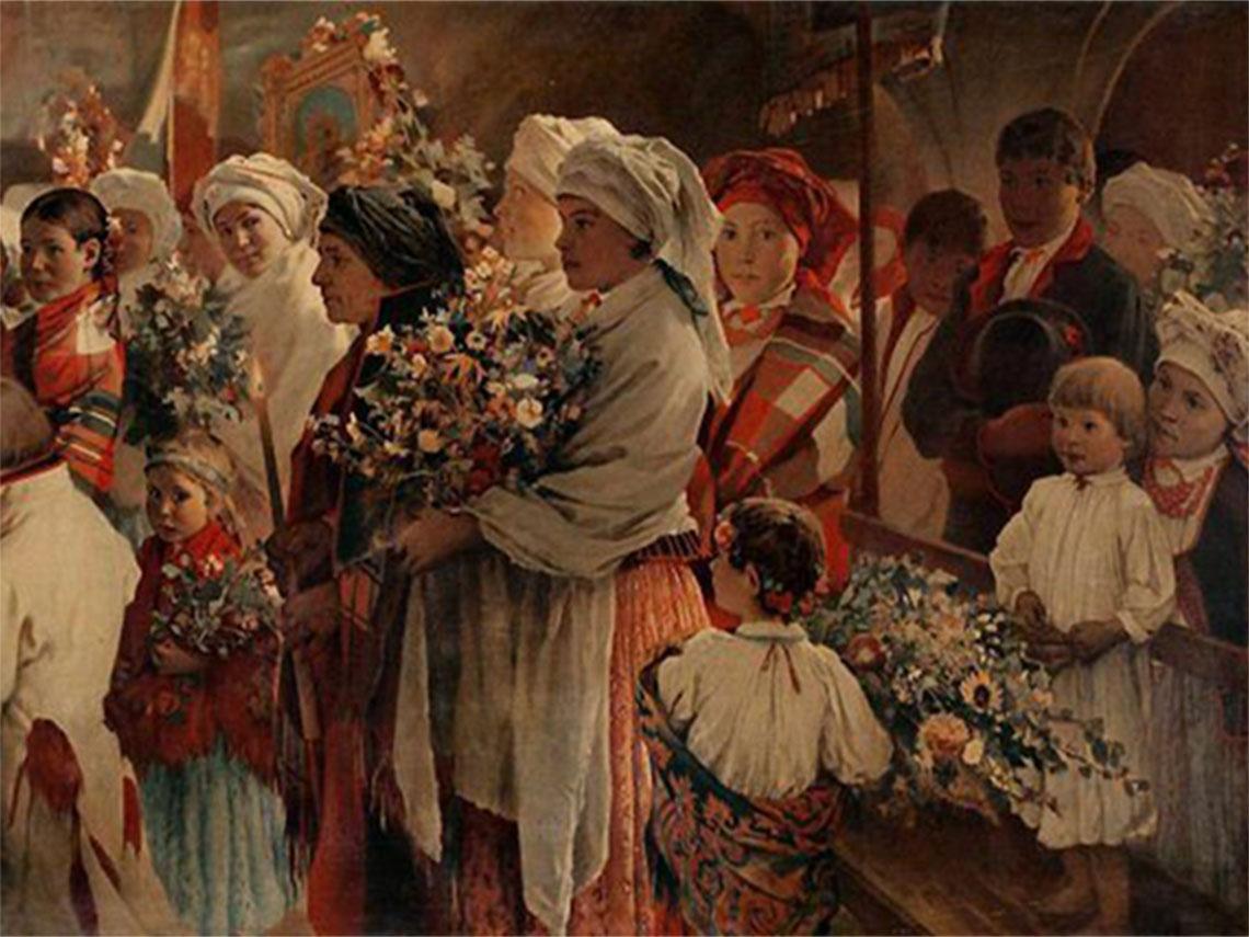 """Witold Pruszkowski """"Niedziela Zielna"""" (1883)"""