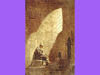 Carl Spitzweg - Środa Popielcowa, olej na płótnie, 1857, Galeria Państwowa Stuttgart (G)
