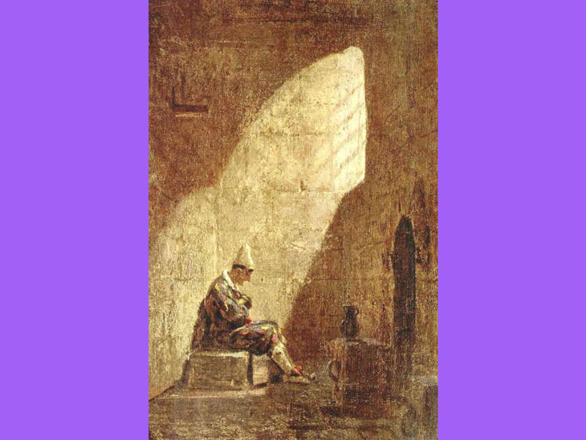 Carl Spitzweg - Środa Popielcowa, olej na płótnie, 1857, Galeria Państwowa Stuttgart