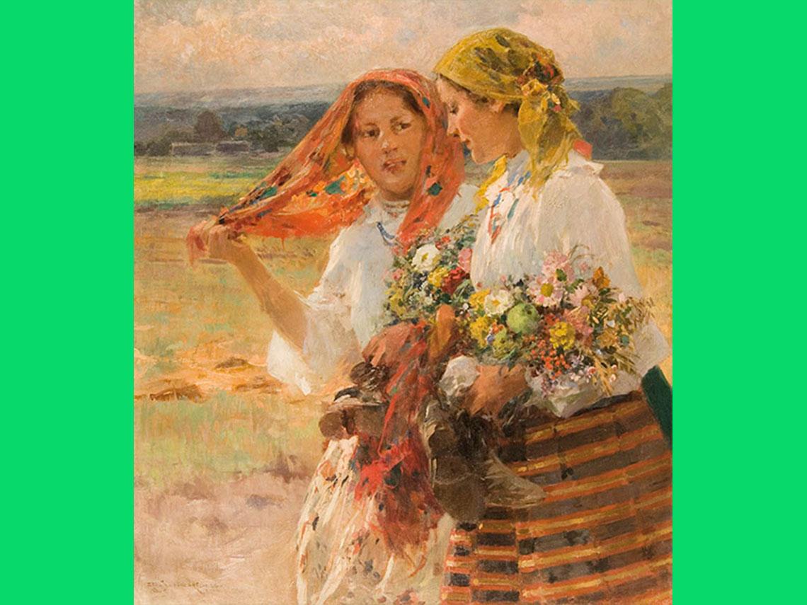 """Zdzisław Jasiński """"W świeto Matki Boskiej Zielnej"""" (1926)"""